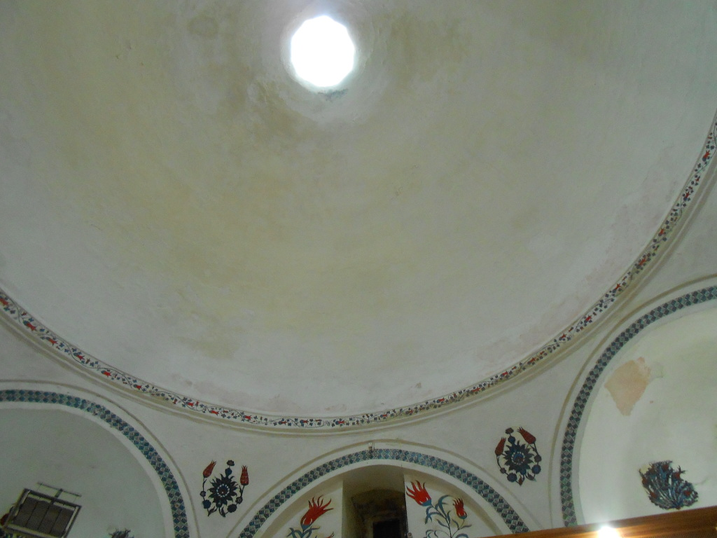Domed ceiling of the hamam