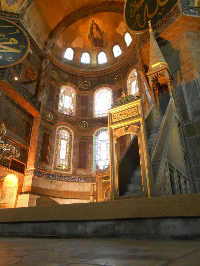 The Interior of the Ayasofya (Hagia Sofia)