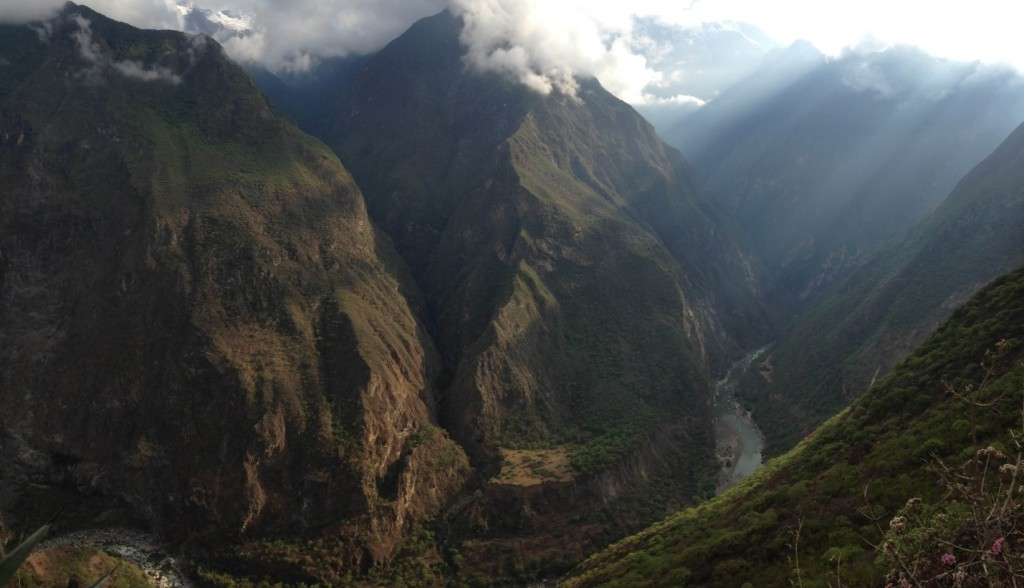 Hiking in the Andes near the Choquequirao ruins, about five hours from Cusco and a few days hike from Machu Picchu