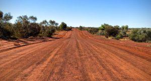 Endless gravel road