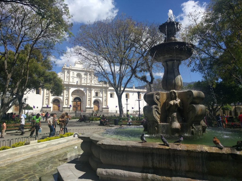 Antigua Central Park and Cathedral
