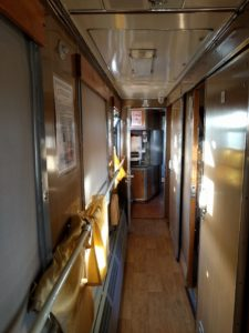 Mongolian Train Car Aisle