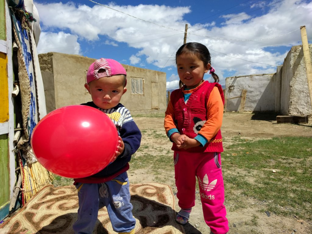 Kazakh Children in Mongolia
