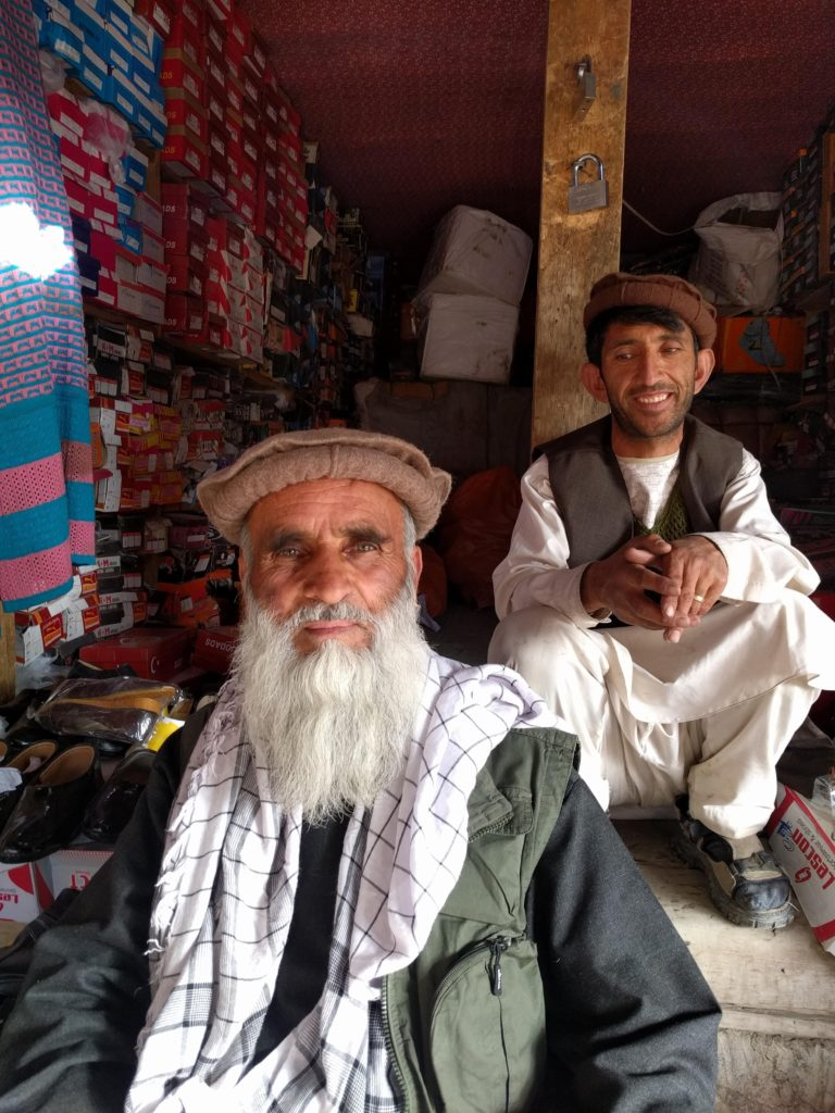Old Afghan man and his friend