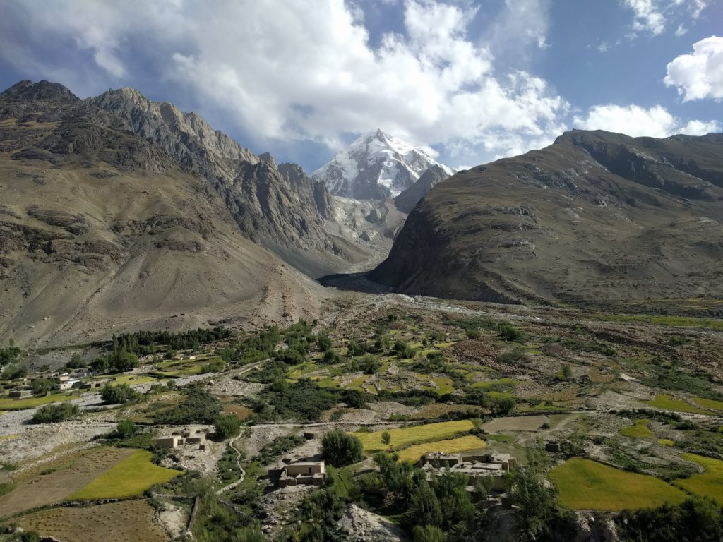 Road viewpoint in the Wakhan