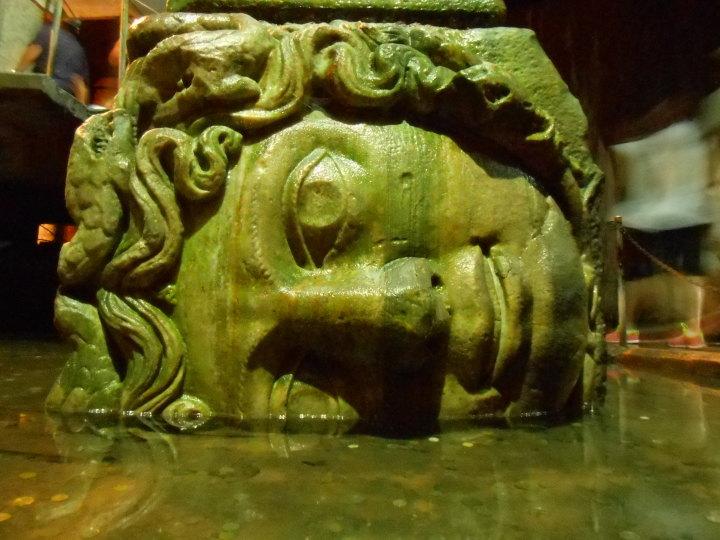Basilica Cistern Medusa head